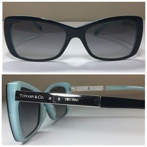 Tiffany & Co. Rectangular Black Sunglasses NWOT
